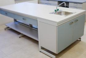 Zdjęcie 51- Stół wyspowy ze stanowiskiem zlewowym, szufladami pojedynczymi