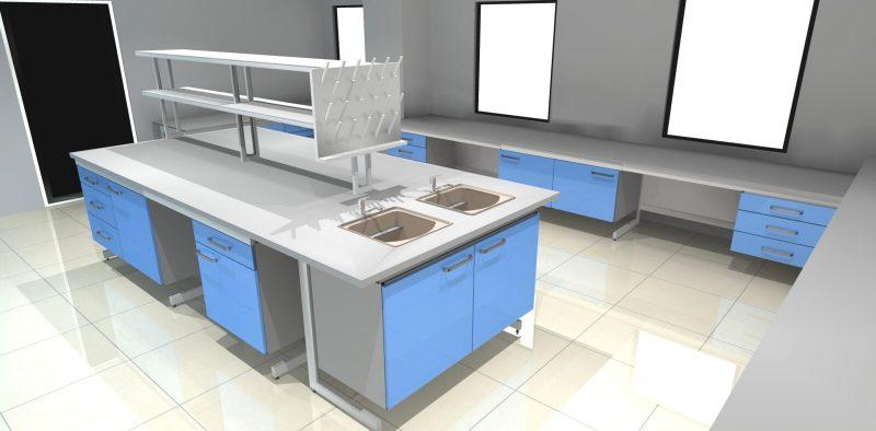 polflex - wizualizacja projekt meble laboratoryjne