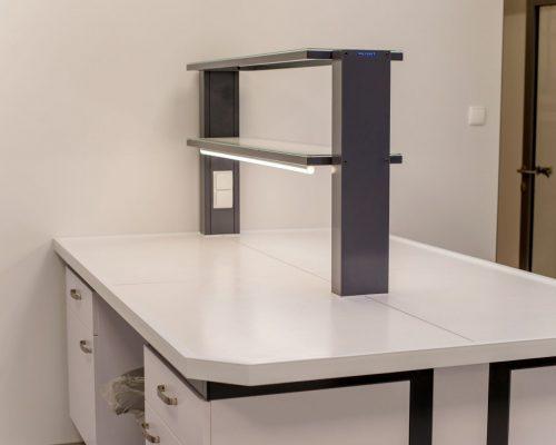 POLFLEX meble laboratoryjne stół z nadstawką